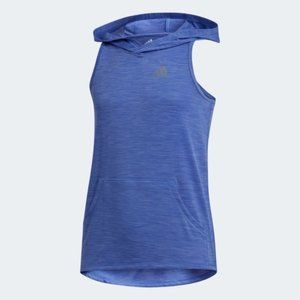 New Adidas Racer Back Sleeveless Hoodie Lilac L/G